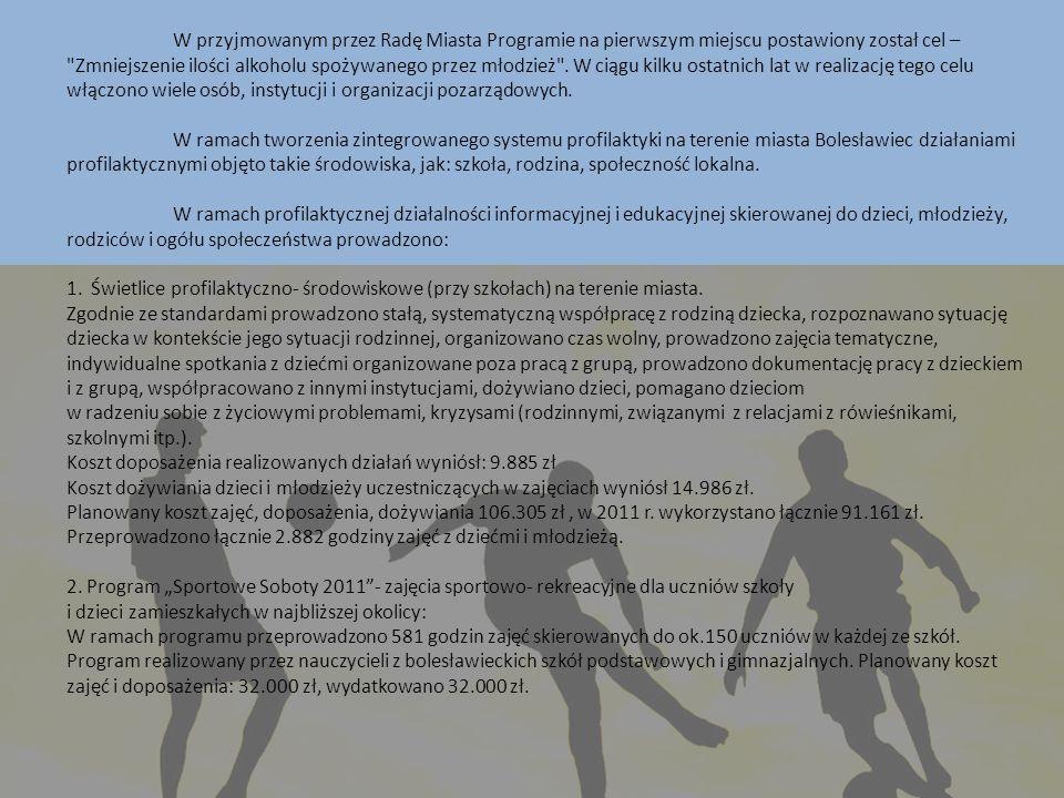 W przyjmowanym przez Radę Miasta Programie na pierwszym miejscu postawiony został cel –