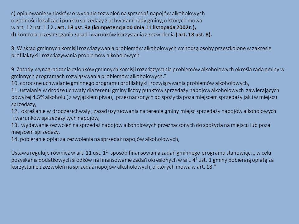 1)uruchomienie profesjonalnych grup terapeutycznych dla dzieci i młodzieży eksperymentujących ze środkami zmieniającymi świadomość, 2)rozwój profesjonalnych form pomocy psychologicznej dla dzieci wychowujących się w rodzinach alkoholowych, 3)wprowadzenie i udoskonalanie systemu przeciwdziałania przemocy w rodzinie zgodnie z ustawą z dnia 29 lipca 2005 r.