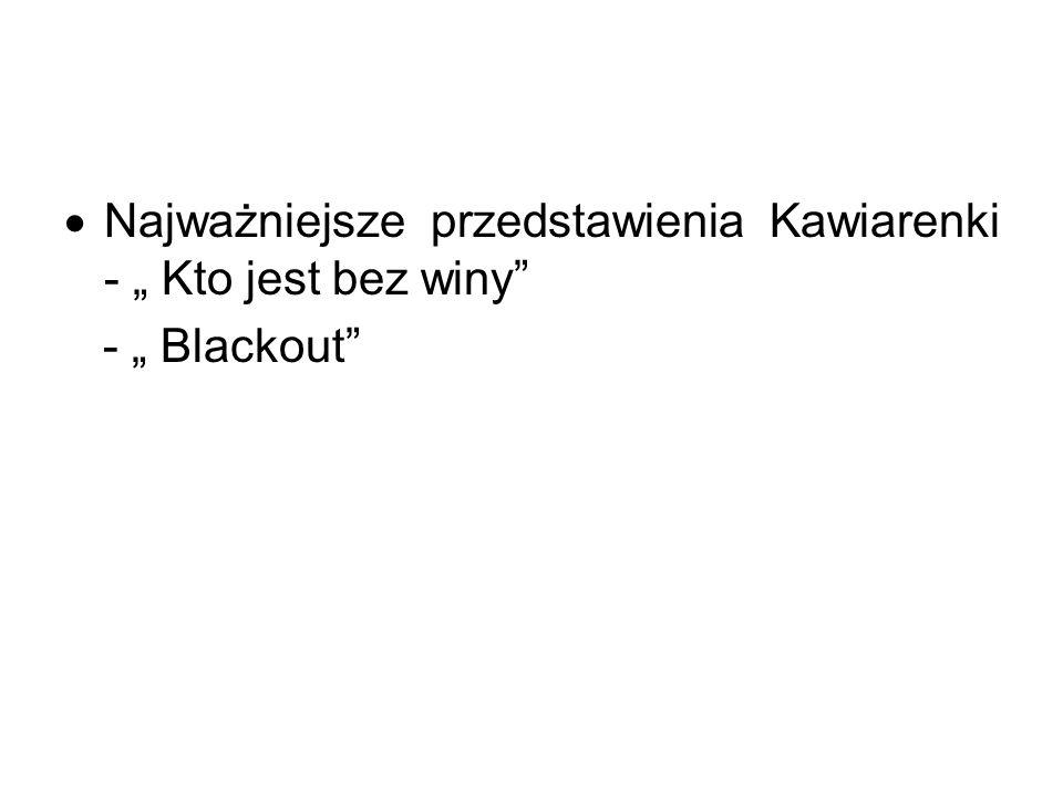 Najważniejsze przedstawienia Kawiarenki - Kto jest bez winy - Blackout