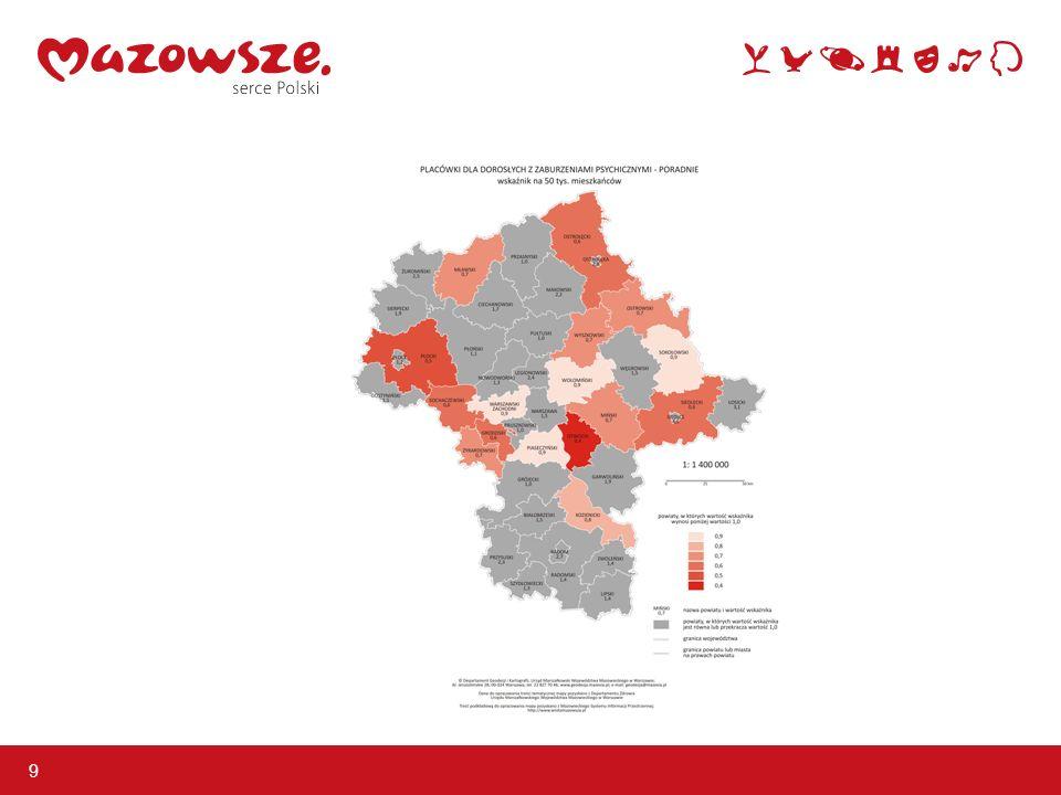 Zadania dla samorządu województwa – utworzenie Centrów Zdrowia Psychicznego - wariant I i II 10