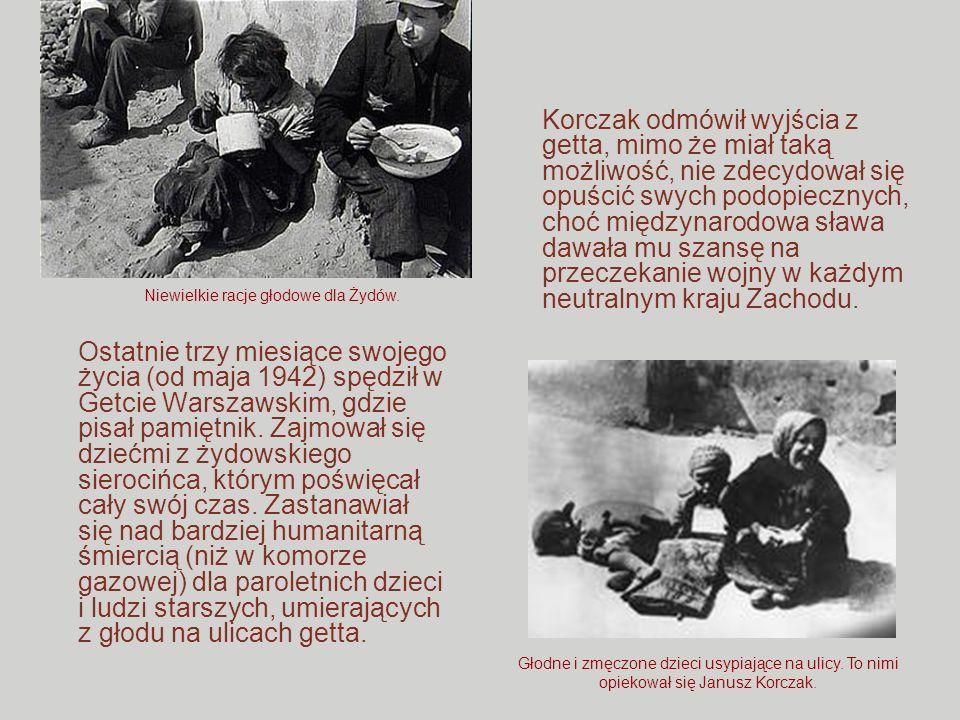 Ostatnie trzy miesiące swojego życia (od maja 1942) spędził w Getcie Warszawskim, gdzie pisał pamiętnik. Zajmował się dziećmi z żydowskiego sierocińca