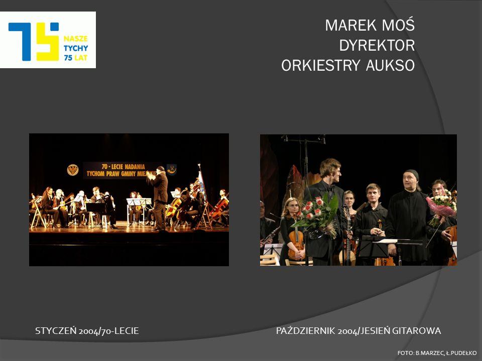 MAREK MOŚ DYREKTOR ORKIESTRY AUKSO FOTO: B.MARZEC, Ł.PUDEŁKO STYCZEŃ 2004/70-LECIEPAŹDZIERNIK 2004/JESIEŃ GITAROWA