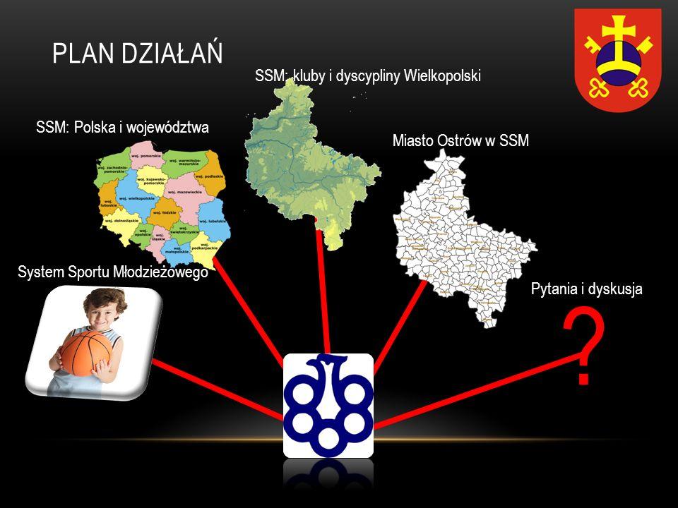 PLAN DZIAŁAŃ ? System Sportu Młodzieżowego SSM: Polska i województwa SSM: kluby i dyscypliny Wielkopolski Miasto Ostrów w SSM Pytania i dyskusja