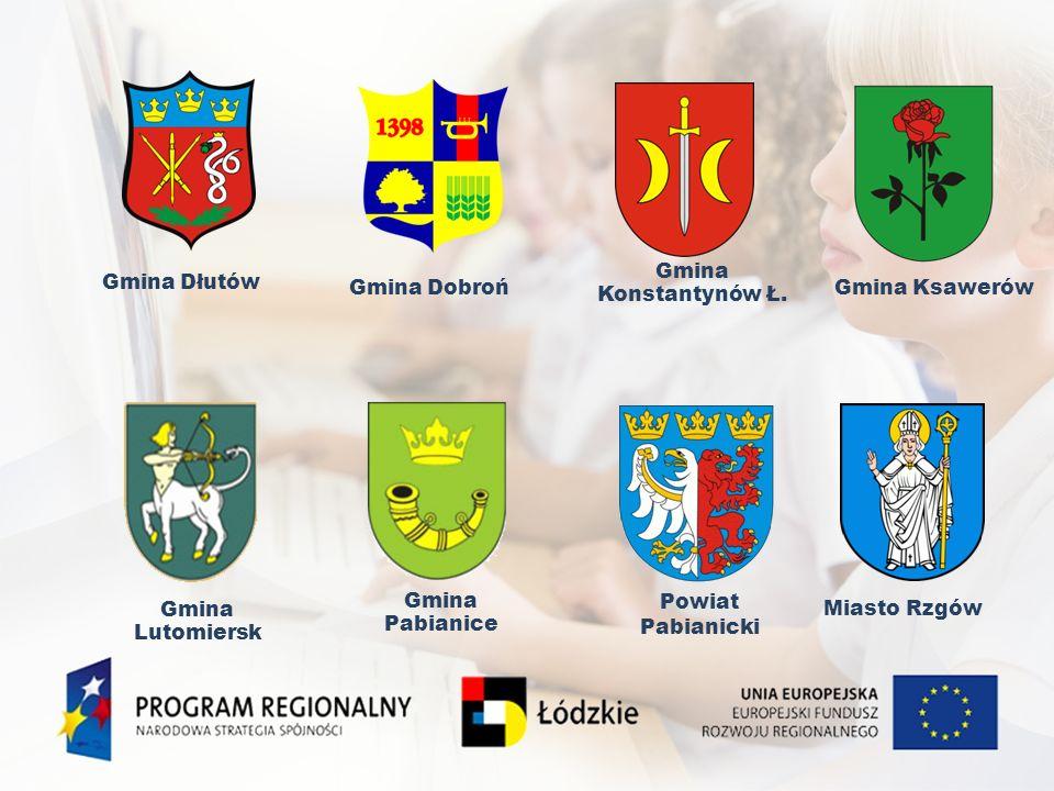 Gmina Dłutów Gmina Dobroń Gmina Lutomiersk Gmina Pabianice Miasto Rzgów Powiat Pabianicki Gmina Ksawerów Gmina Konstantynów Ł.