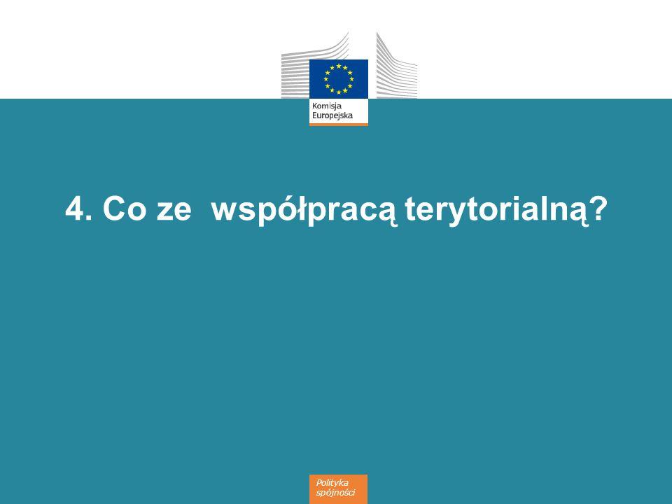 Polityka spójności 4. Co ze współpracą terytorialną?