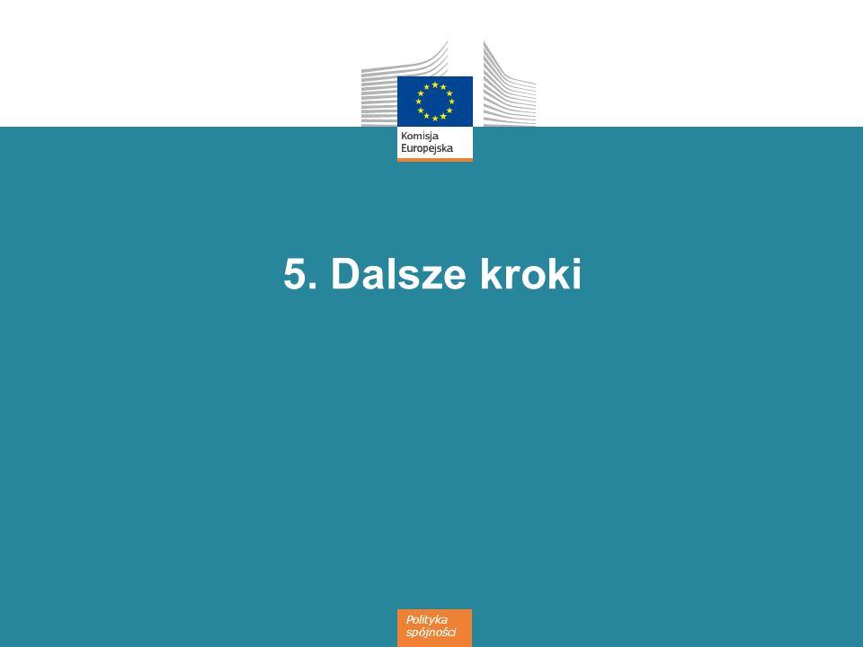 Polityka spójności 5. Dalsze kroki