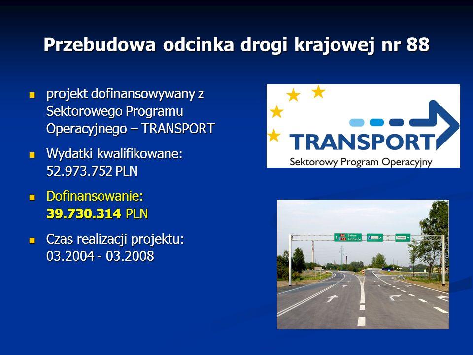 Przebudowa odcinka drogi krajowej nr 88 projekt dofinansowywany z Sektorowego Programu Operacyjnego – TRANSPORT projekt dofinansowywany z Sektorowego