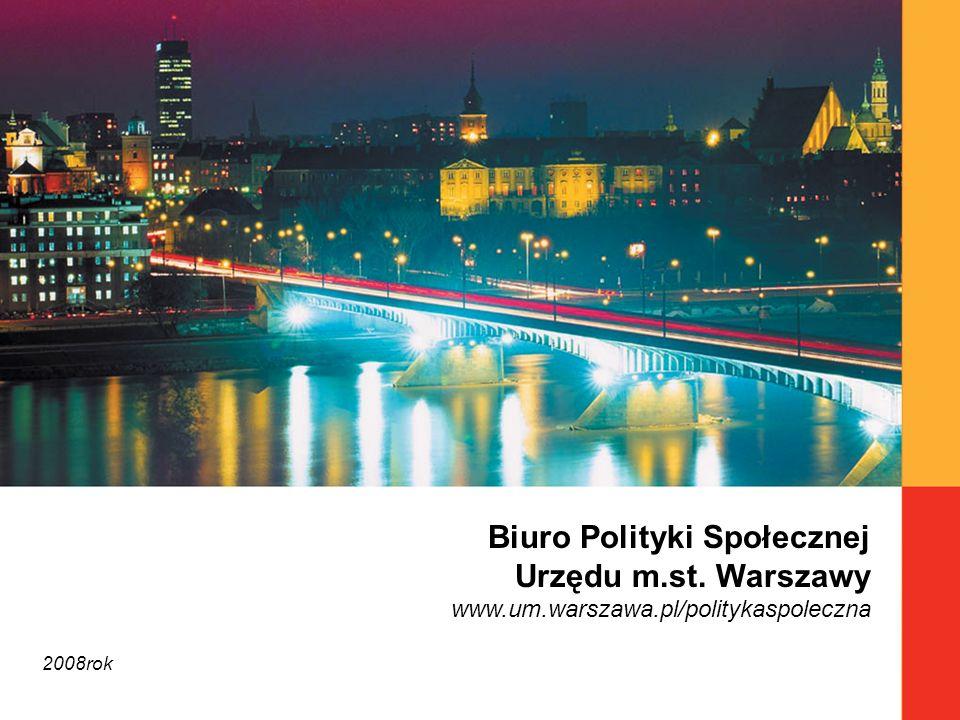 Biuro Polityki Społecznej Urzędu m.st. Warszawy www.um.warszawa.pl/politykaspoleczna 2008rok