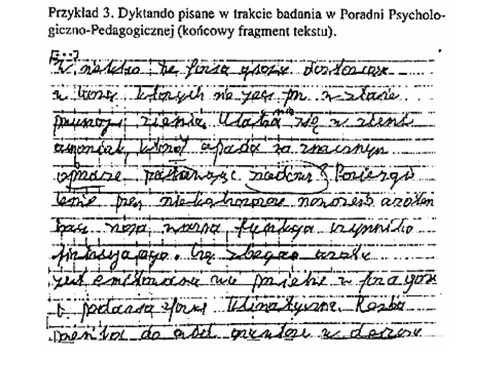 Jak rozpoznać problemy dyslektyczno - dysortograficzne w pisaniu? Błędy występują często, a nie sporadycznie. Błędy występują często, a nie sporadyczn