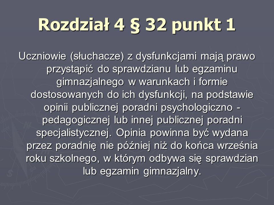 Rozdział 2 § 6 punkt 1 Nauczyciel jest obowiązany, na podstawie opinii publicznej poradni psychologiczno - pedagogicznej lub innej publicznej poradni