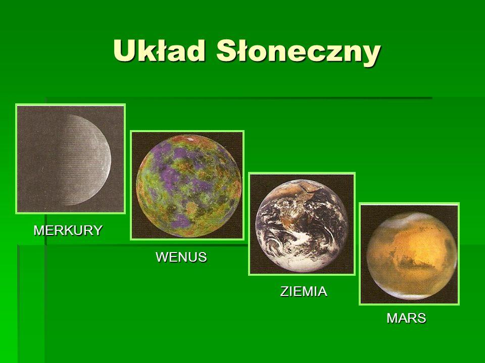 MERKURY WENUS MARS ZIEMIA Układ Słoneczny