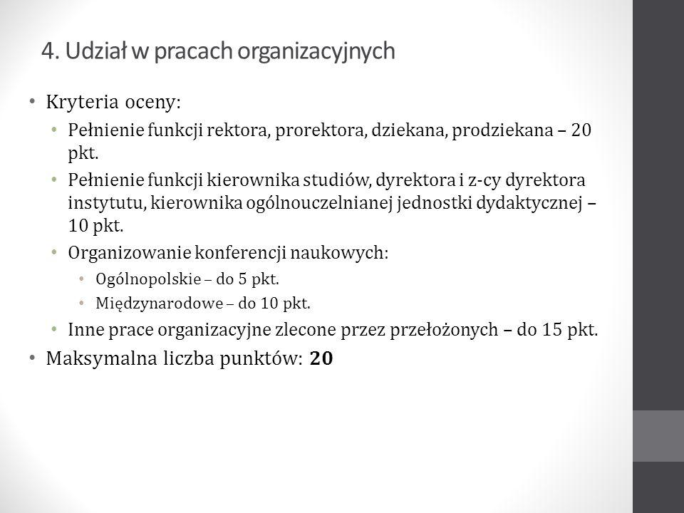 Liczba uzyskanych punktów i oceny prof.