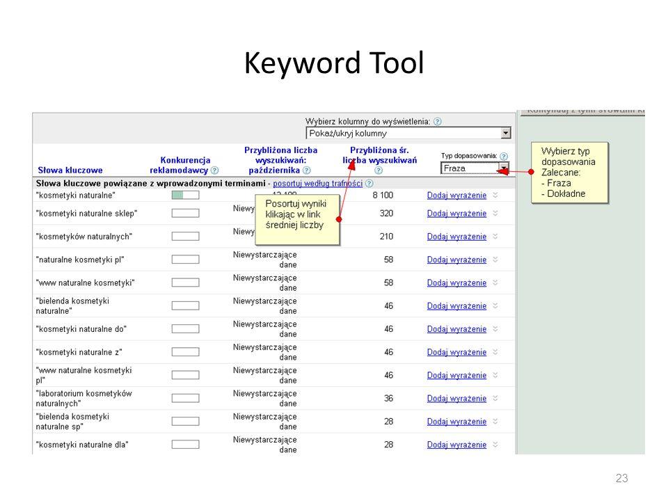 Keyword Tool 23