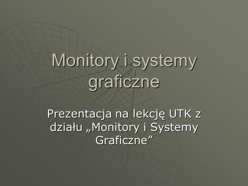 Monitory i systemy graficzne Prezentacja na lekcję UTK z działu Monitory i Systemy Graficzne