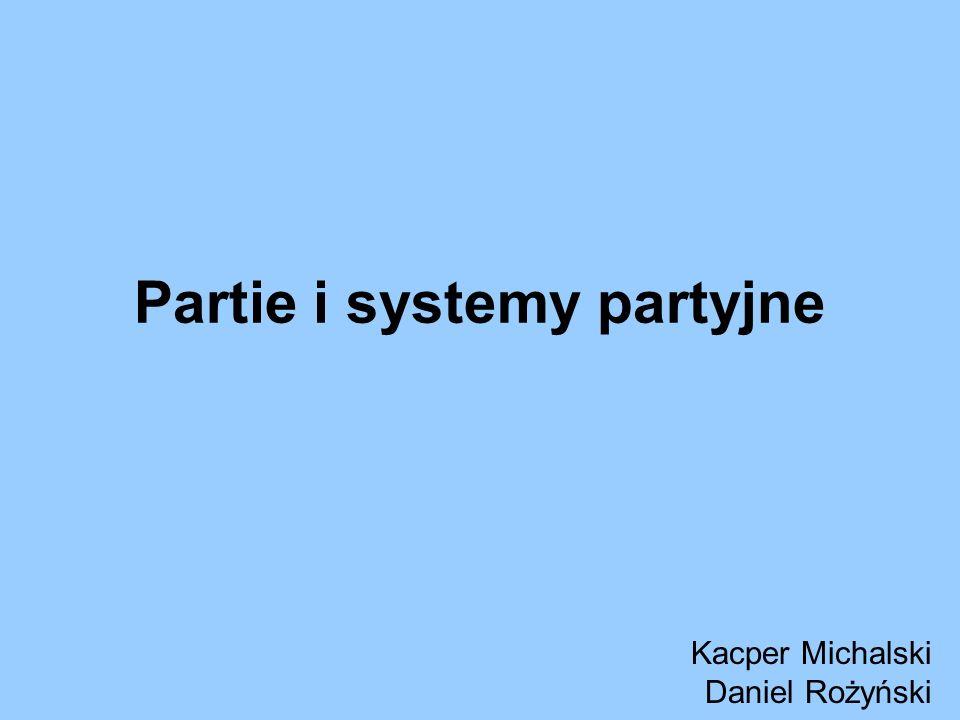 Partie i systemy partyjne Kacper Michalski Daniel Rożyński