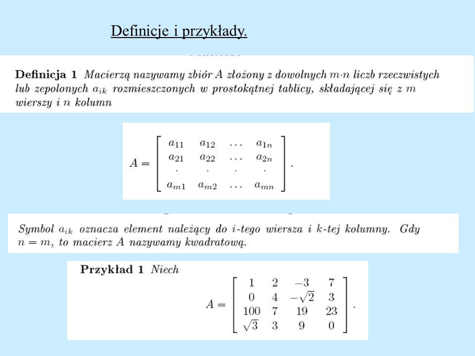 Definicje i przykłady.