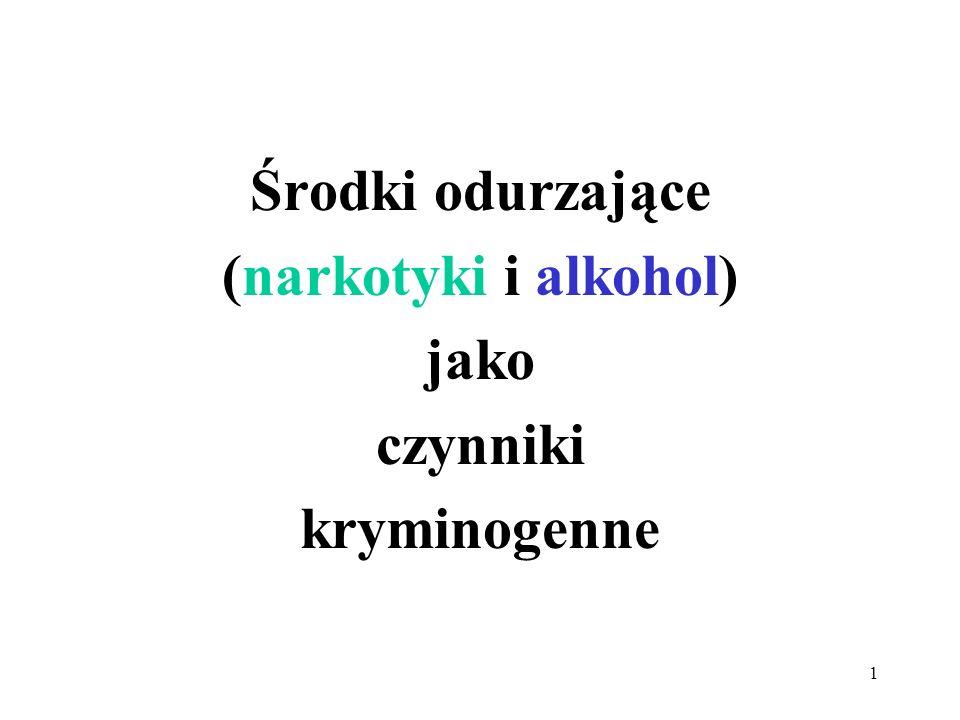 1 Środki odurzające (narkotyki i alkohol) jako czynniki kryminogenne