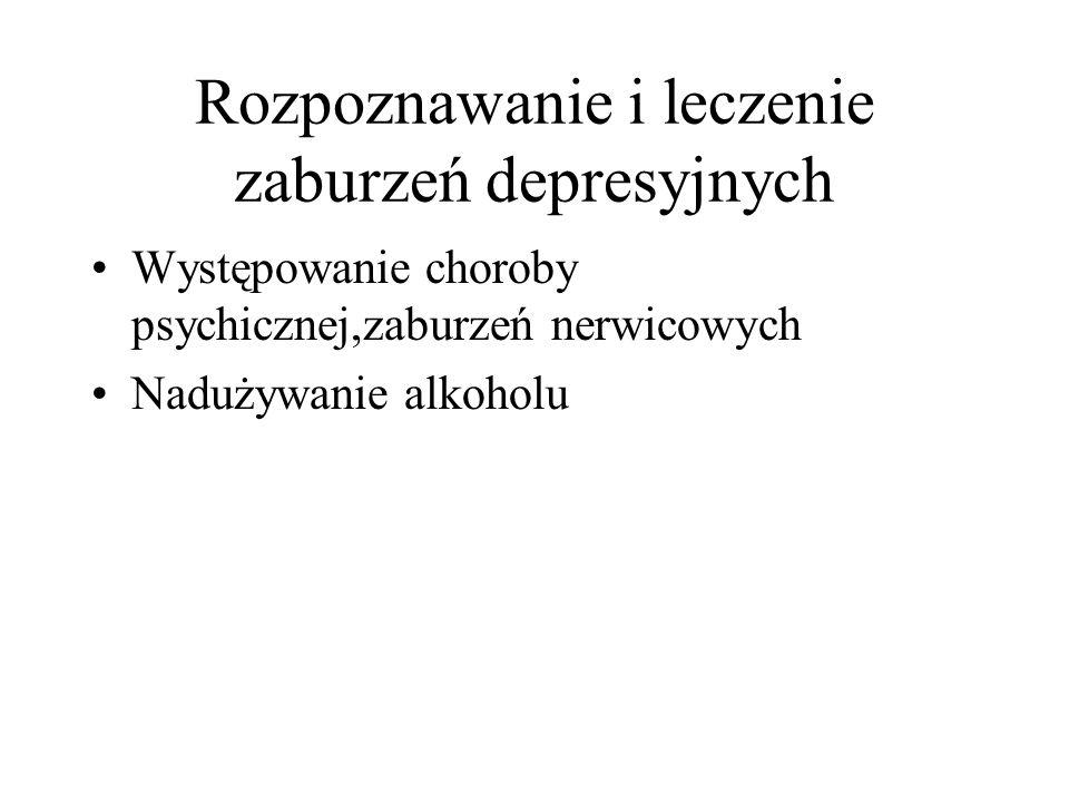 Rozpoznanie i leczenie stanów depresyjnych II generacja-selektywne inhibitory wychwytu serotoniny SSRI(korzystne działanie w depresji i zespołach lękowych) fluoksetyna-Prozac -tabletka szczęścia fluwoksamina,sertralina,paroksetyna,citalo- pram