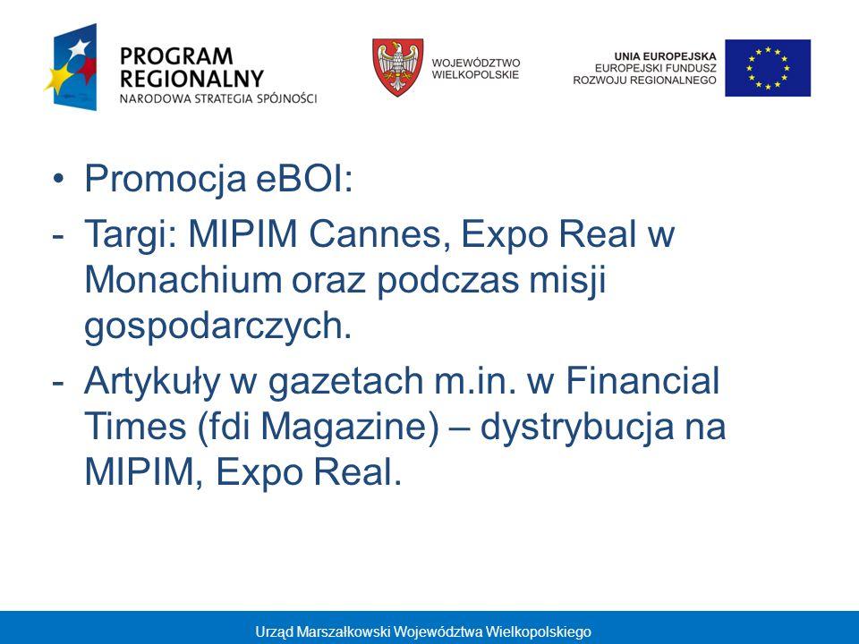 Projekt kluczowy Kompleksowa promocja gospodarki i inwestycji w Wielkopolsce Działania w 2009 i 2010 r.: - działania promocyjne zagraniczne - udział w targach i misjach gospodarczych: 1.