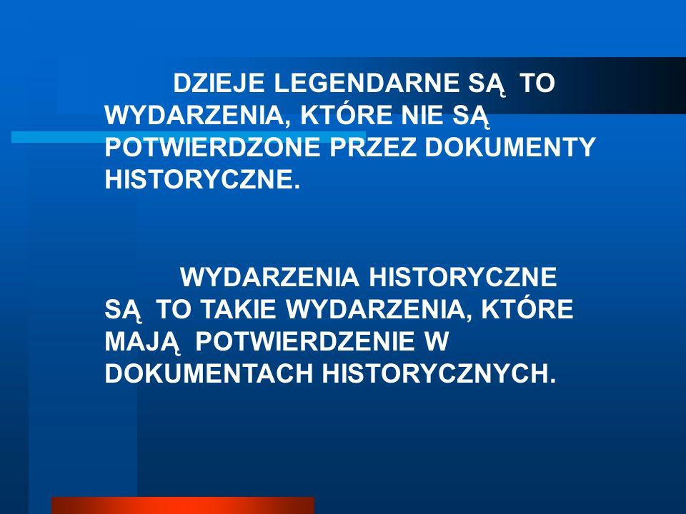 Do czasów Mieszka I niewiele wiemy o przeszłości ziem polskich, ze względu na brak dokumentów. Najpopularniejszym ujęciem nieznanych dziejów Polski są