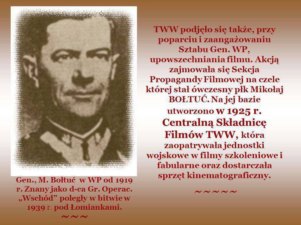 TWW podjęło się także, przy poparciu i zaangażowaniu Sztabu Gen. WP, upowszechniania filmu. Akcją zajmowała się Sekcja Propagandy Filmowej na czele kt
