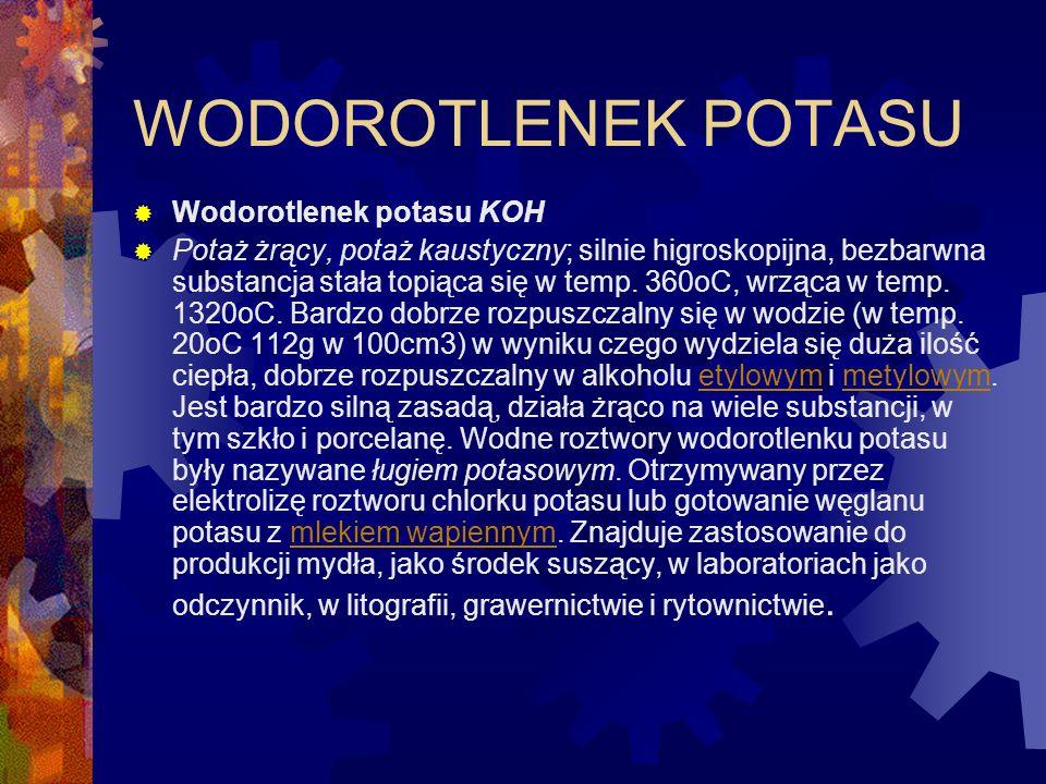 WODOROTLENEK SODU Wodorotlenek sodu NaOH Inne nazwy: soda kaustyczna, soda żrąca, zasada sodowa.