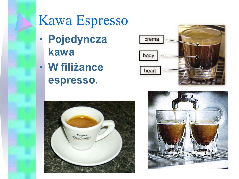 Kawa Espresso Pojedyncza kawa W filiżance espresso.