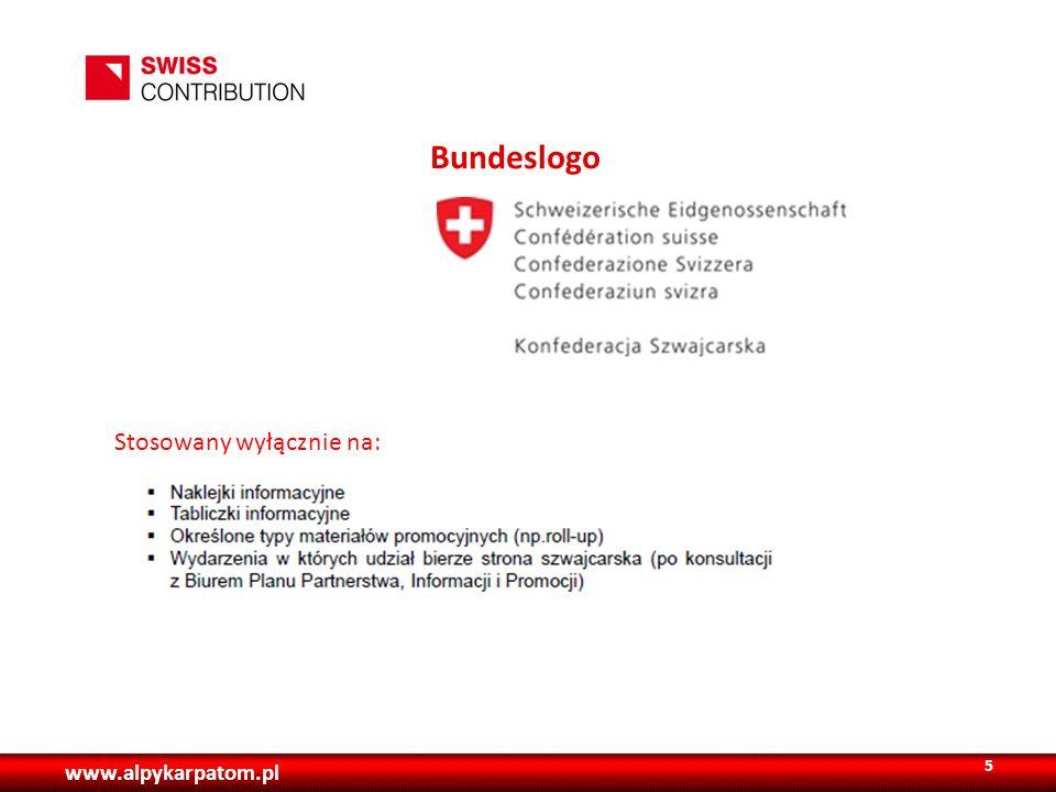 www.alpykarpatom.pl Bundeslogo 5 Stosowany wyłącznie na:
