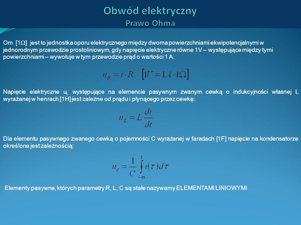 Om [1 ] jest to jednostka oporu elektrycznego między dwoma powierzchniami ekwipotencjalnymi w jednorodnym przewodzie prostoliniowym, gdy napięcie elek