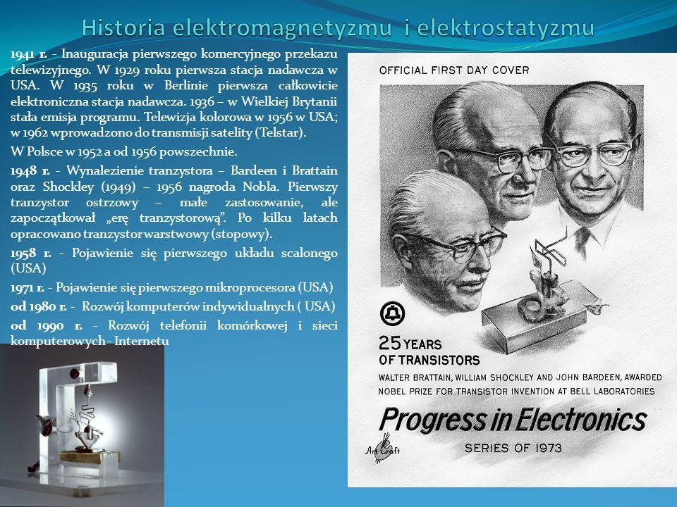 Elektron – elementarny nośnik ładunku elektrycznego = 1,6* 10 -19 C (1 C – kulomb, jednostka ładunku elektrycznego) Modela atomu Bohra Jądro atomu składa się z protonów i neuronów.