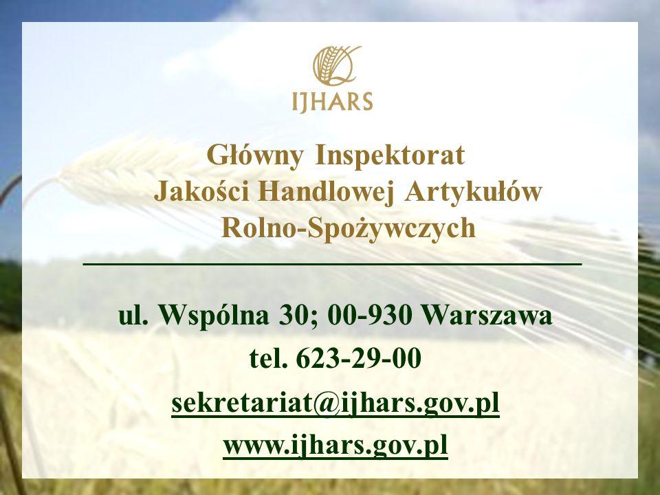 Główny Inspektorat Jakości Handlowej Artykułów Rolno-Spożywczych ul.