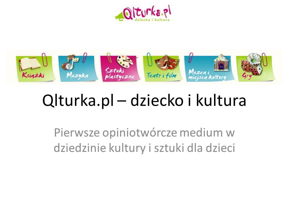 Qlturka.pl – dziecko i kultura Pierwsze opiniotwórcze medium w dziedzinie kultury i sztuki dla dzieci