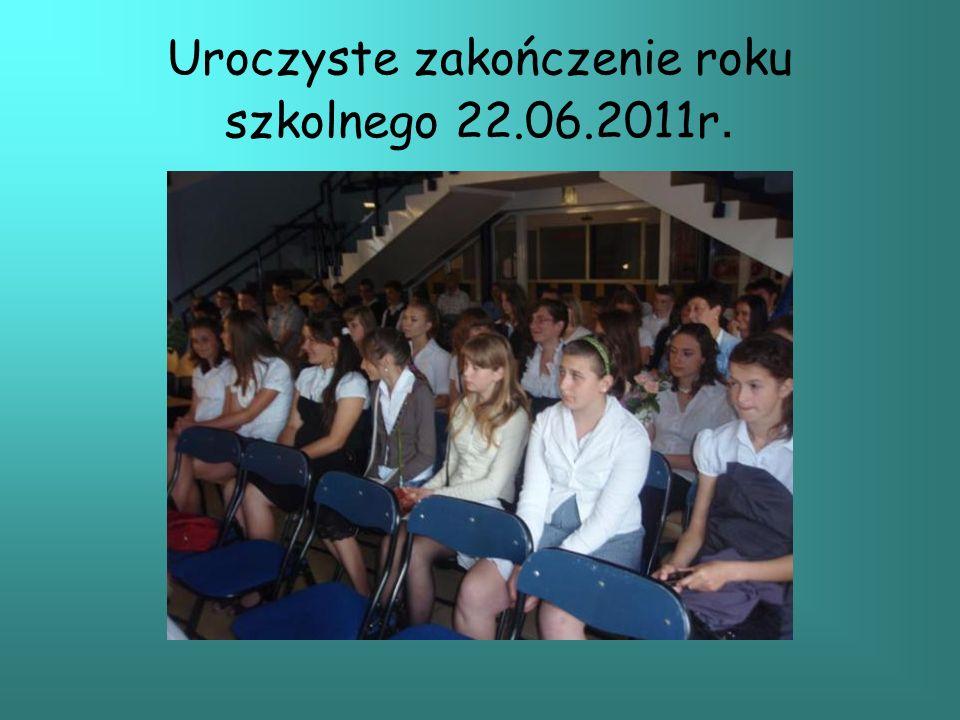 Uroczyste zakończenie roku szkolnego 22.06.2011r.