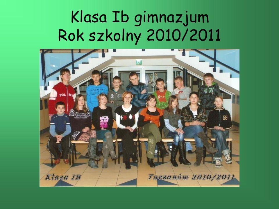 Klasa Ib gimnazjum Rok szkolny 2010/2011