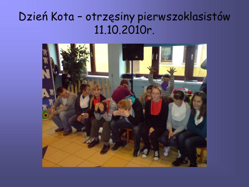 Dzień Kota – otrzęsiny pierwszoklasistów 11.10.2010r.