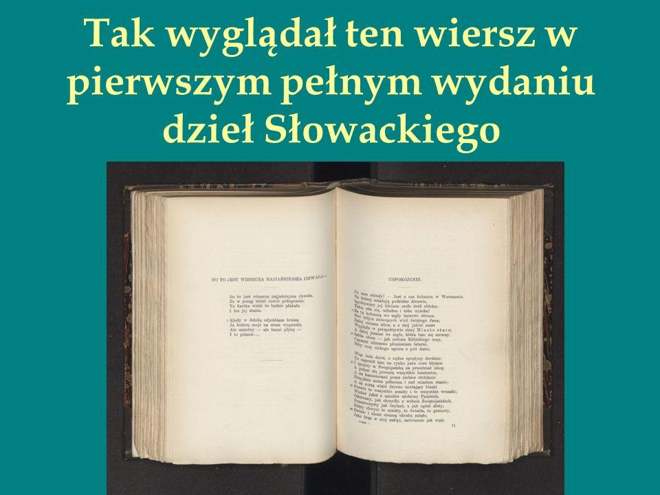 A teraz już i serio, i uważnie Przyjrzyjmy się poszczególnym wersom tekstu Oto próba odczytania dziwnego początku wiersza…