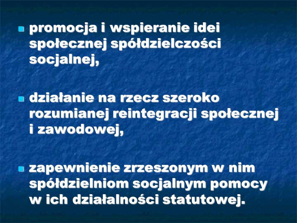 promocja i wspieranie idei społecznej spółdzielczości socjalnej, promocja i wspieranie idei społecznej spółdzielczości socjalnej, działanie na rzecz s