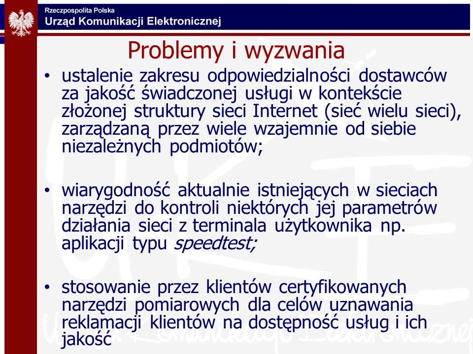 Problemy i wyzwania ustalenie zakresu odpowiedzialności dostawców za jakość świadczonej usługi w kontekście złożonej struktury sieci Internet (sieć wi