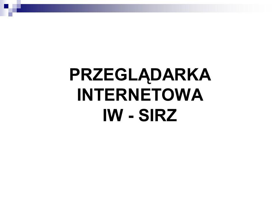 PRZEGLĄDARKA INTERNETOWA IW - SIRZ
