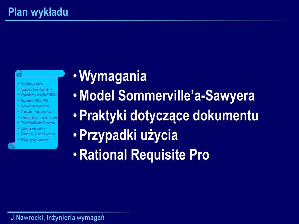 J.Nawrocki, Inżynieria wymagań Składniki RequisitePro Baza danych Paleta Widoki MS Word RequisiteWeb