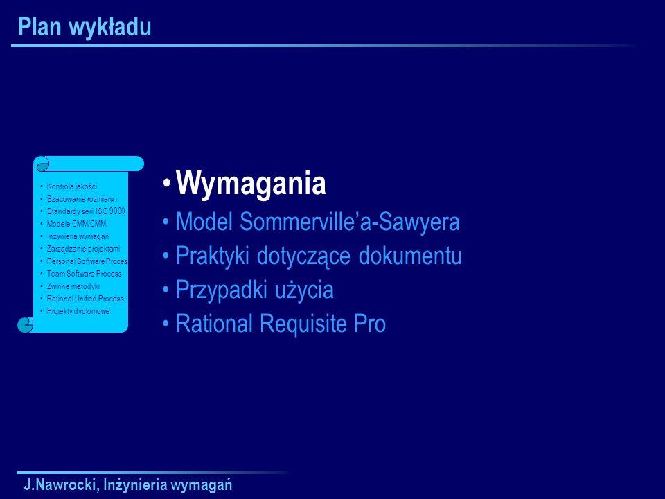 J.Nawrocki, Inżynieria wymagań Macierz atrybutów Znacznik Pełny tekst Krótki tekstAtrybut
