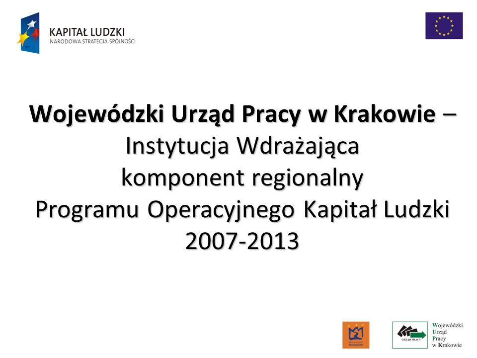 Wojewódzki Urząd Pracy w Krakowie – Instytucja Wdrażająca komponent regionalny Programu Operacyjnego Kapitał Ludzki 2007-2013