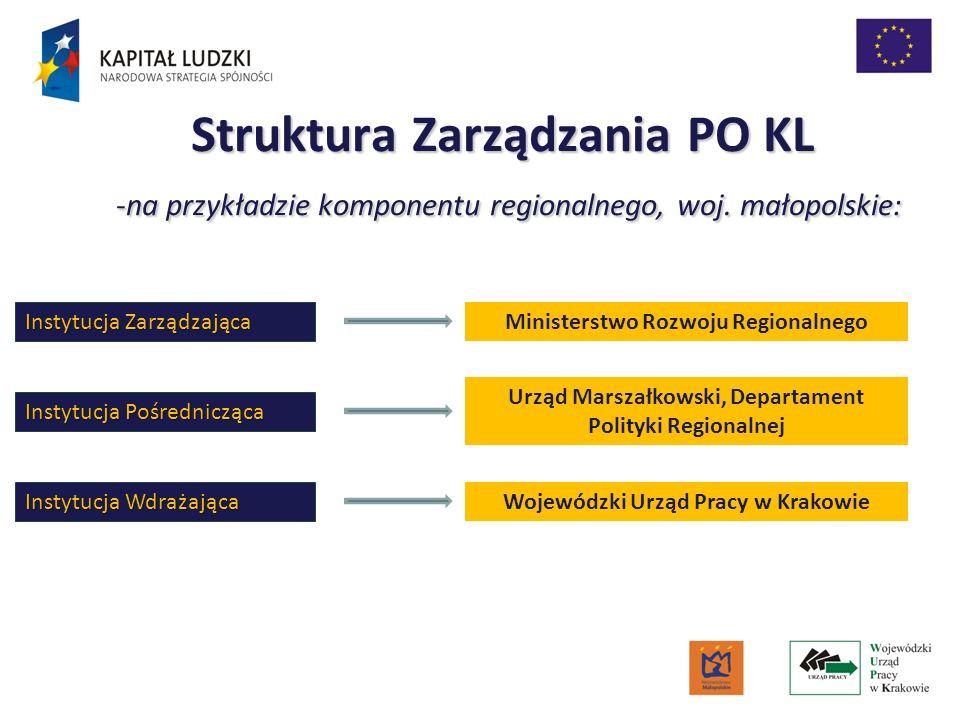 Struktura Zarządzania PO KL -na przykładzie komponentu regionalnego, woj. małopolskie: -na przykładzie komponentu regionalnego, woj. małopolskie: Inst