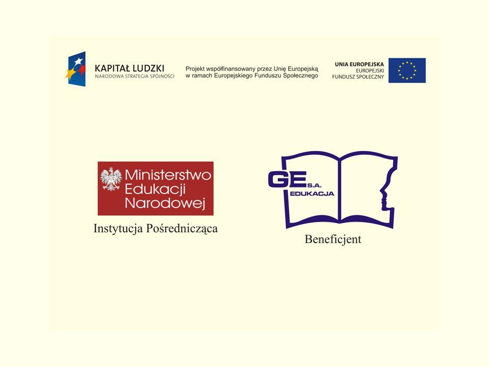 Konkurs Ministerstwo Edukacji Narodowej Program Operacyjny Kapitał Ludzki Priorytet III Wysoka jakość systemu oświaty Działanie 3.3.