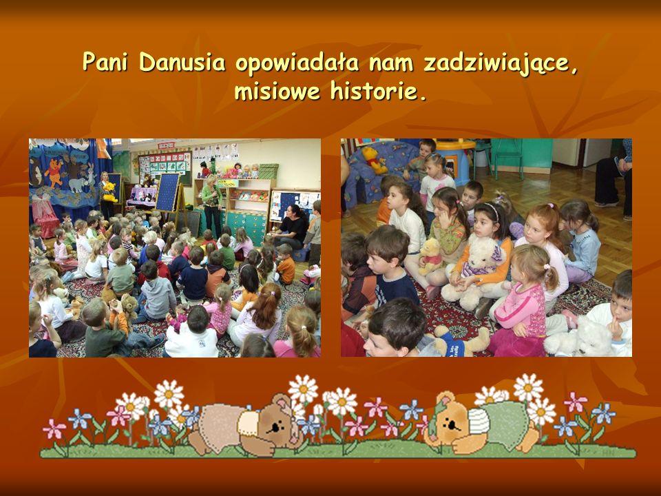 Pani Danusia opowiadała nam zadziwiające, misiowe historie.