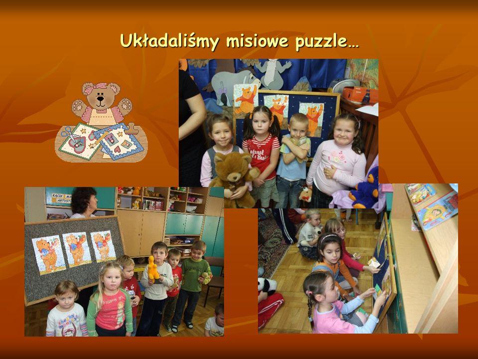 Układaliśmy misiowe puzzle…