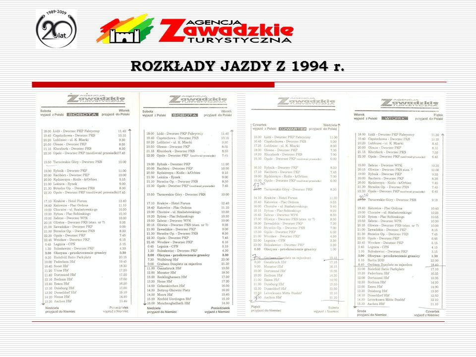 ROZKŁADY JAZDY Z 1994 r.