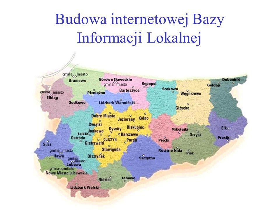 Budowa internetowej Bazy Informacji Lokalnej