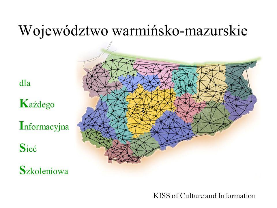 Województwo warmińsko-mazurskie dla K ażdego I nformacyjna S ieć S zkoleniowa KISS of Culture and Information