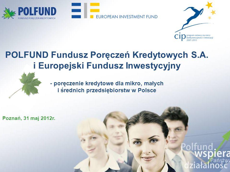Największy Fundusz poręczeniowy w Polsce o charakterze makroregionalnym Działalność poręczeniowa od ponad 10 lat Kapitał poręczeniowy: 66 mln zł Umowy z EFI: W 2005r.